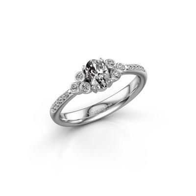 Bague de fiançailles Lucy 2 950 platine diamant synthétique 0.969 crt