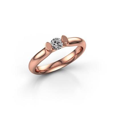 Foto van Verlovingsring Ashlyn 1 375 rosé goud diamant 0.25 crt