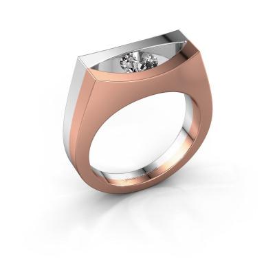 Bague Milou 585 or rose diamant 0.40 crt