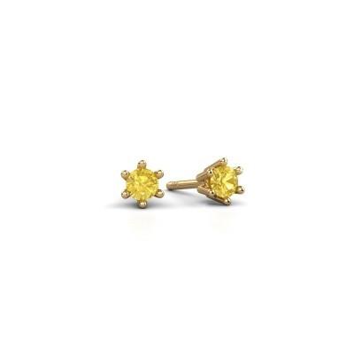 Oorbellen Fay 375 goud gele saffier 3.4 mm