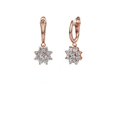 Drop earrings Camille 1 375 rose gold diamond 1.38 crt