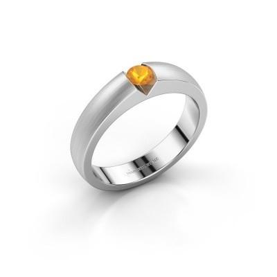 Verlovingsring Theresia 950 platina citrien 3.4 mm