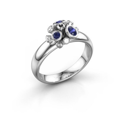 Ring Pameila 925 zilver saffier 2 mm