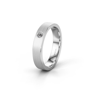 Trouwring WH0101L14AM 375 witgoud diamant ±4x1.7 mm