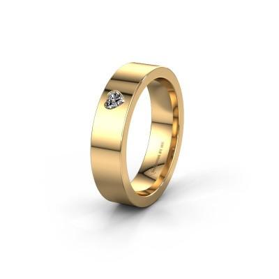Trouwring WH0101L15BPHRT 585 goud diamant ±5x2 mm