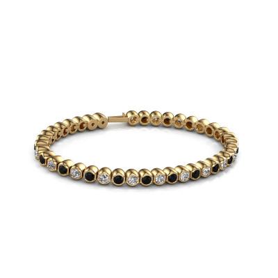 Picture of Tennis bracelet Bianca 3.5 mm 375 gold black diamond 7.92 crt