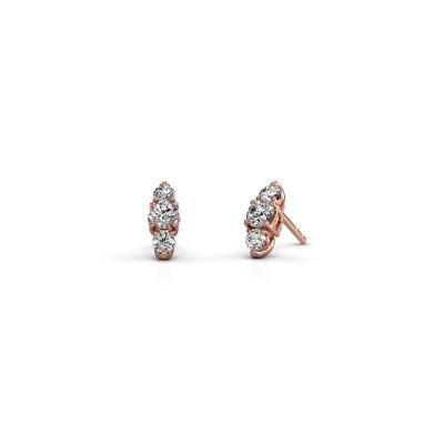 Foto van Oorbellen Amie 375 rosé goud lab-grown diamant 0.70 crt