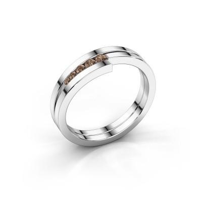 Foto van Ring Cato 925 zilver bruine diamant 0.125 crt