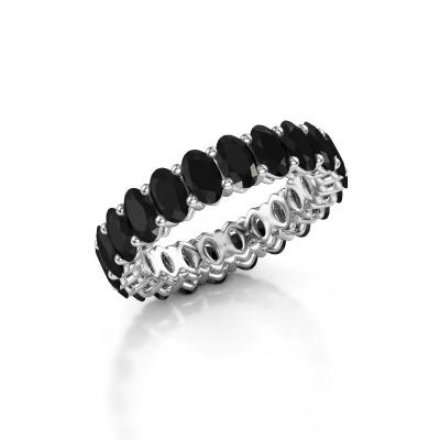 Aanschuifring Heddy OVL 3x5 950 platina zwarte diamant 6.072 crt