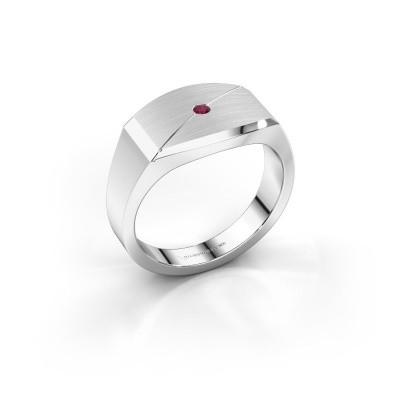 Foto van Heren ring Joe 5 925 zilver rhodoliet 2 mm