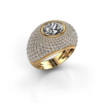 Foto van Ring Armida 375 goud zirkonia 9x7 mm