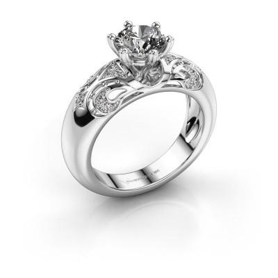 Foto van Ring Maya 950 platina diamant 1.105 crt