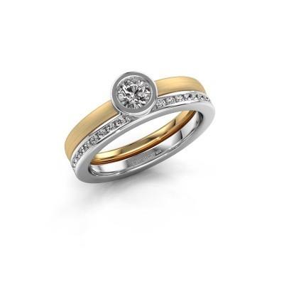 Ring Cara 585 gold zirconia 4 mm