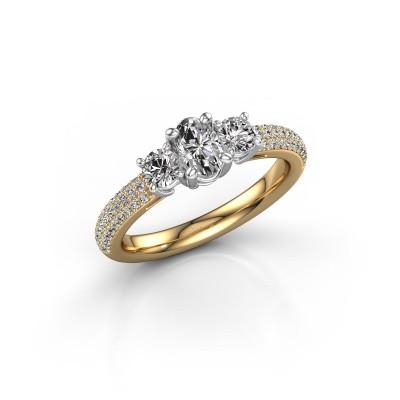 Foto van Verlovingsring Marielle OVL 585 goud lab-grown diamant 1.32 crt