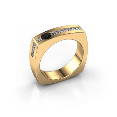 Foto van Mannen ring Arend 375 goud zwarte diamant 0.914 crt