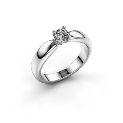 Foto van Promise ring Katrijn 585 witgoud zirkonia 4.2 mm