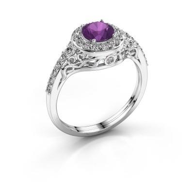 Ring Yurani 950 platina amethist 6 mm