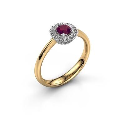 Verlovingsring Debi 585 goud rhodoliet 4.2 mm