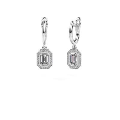 Bild von Ohrhänger Noud EME 585 Weißgold Diamant 0.70 crt