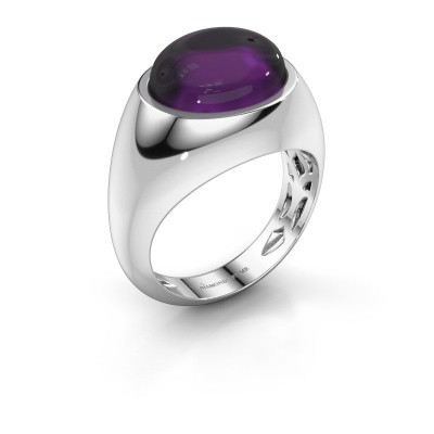 Ring Laurien 375 white gold amethyst 12x10 mm