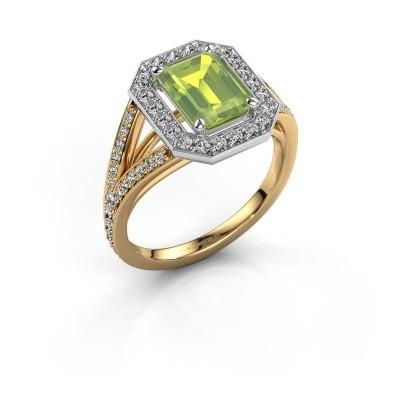 Promise ring Angelita EME 585 goud peridoot 8x6 mm