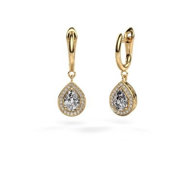 Picture of Drop earrings Ginger 1 585 gold zirconia 7x5 mm