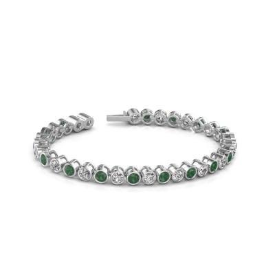 Bild von Tennis Armband Allegra 585 Weißgold Smaragd 4 mm