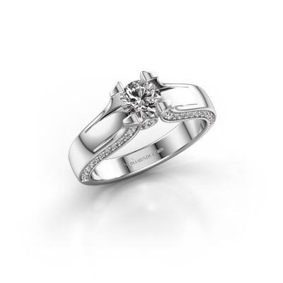 Bague de fiançailles Jeanne 1 950 platine diamant 0.82 crt