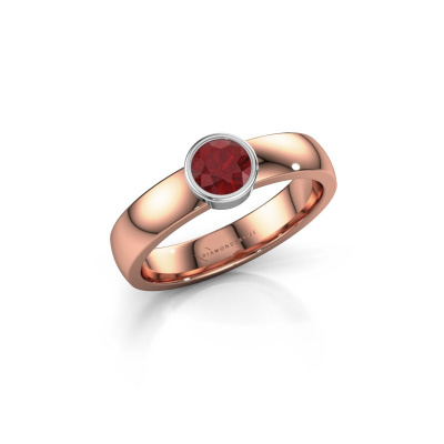 Ring Ise 1 585 rose gold ruby 4.7 mm