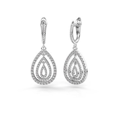 Photo de Pendants d'oreilles Marietta 2 585 or blanc diamant 0.852 crt