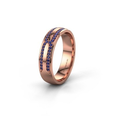 Wedding ring WH2212L25AP 585 rose gold sapphire ±5x1.7 mm