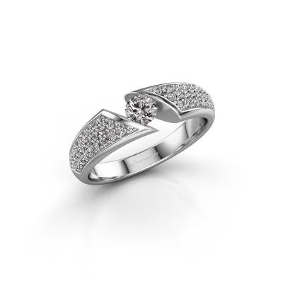 Foto van Ring Hojalien 3 585 witgoud diamant 0.621 crt