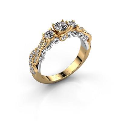 Foto van Verlovingsring Kourtney 585 goud diamant 0.80 crt