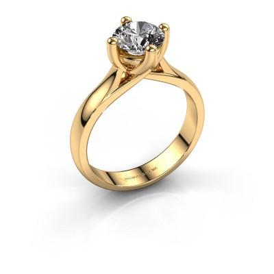 Engagement ring Janne 375 gold diamond 1.00 crt