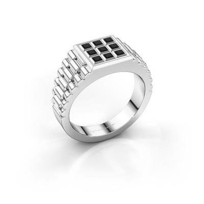 Foto van Heren ring Chavez 950 platina zwarte diamant 0.63 crt