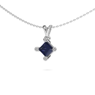 Picture of Pendant Cornelia Square 585 white gold sapphire 6 mm
