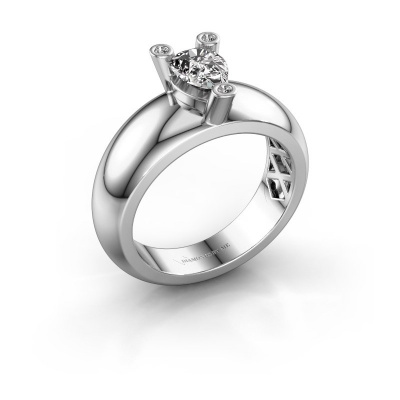 Ring Cornelia Pear 585 white gold lab grown diamond 0.65 crt
