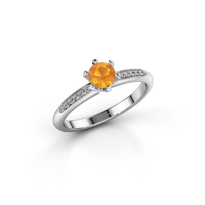 Picture of Engagement ring Tiffy 2 585 white gold citrin 4.7 mm