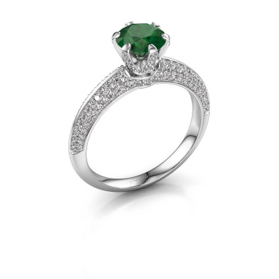 Picture of Engagement ring Abby 925 silver emerald 6.5 mm