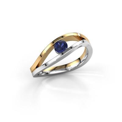Foto van Ring Sigrid 1 585 witgoud saffier 4 mm