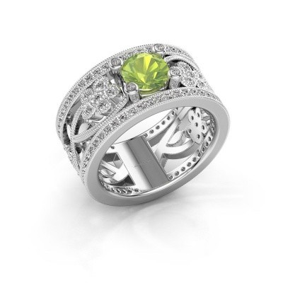 Ring Severine 925 zilver peridoot 6 mm