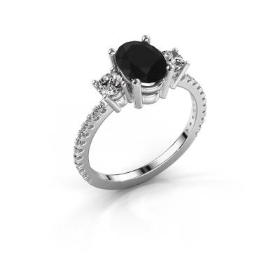 Verlobungsring Emelda 925 Silber Schwarz Diamant 1.965 crt