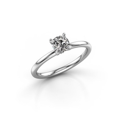 Foto van Verlovingsring Crystal RND 1 925 zilver zirkonia 5 mm