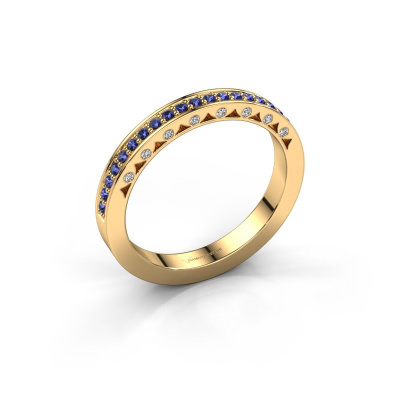 Ring Yasmine 585 gold sapphire 1.2 mm