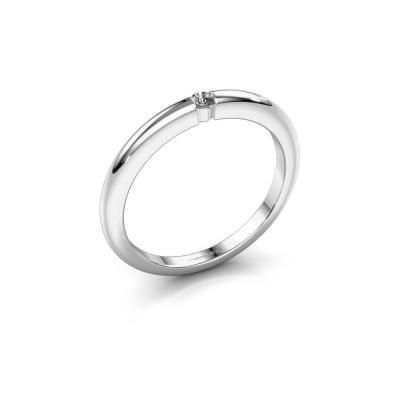 Foto van Verlovingsring Amelia 585 witgoud diamant 0.03 crt
