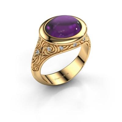 Ring Natacha 585 goud amethist 12x10 mm