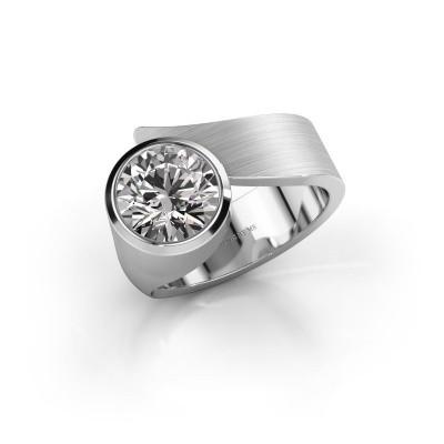 Ring Nakia 925 silver zirconia 8 mm