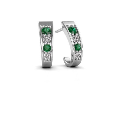 Picture of Earrings Glady 585 white gold emerald 3 mm