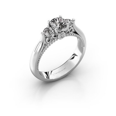 Picture of Engagement ring Tiffani 585 white gold diamond 0.74 crt