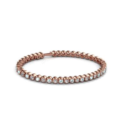 Picture of Tennis bracelet Bianca 3 mm 375 rose gold aquamarine 3 mm